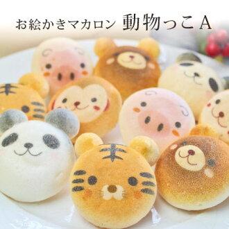 Oekaki 蛋白杏仁饼干动物方括号十入房子礼品盒为个人和公司