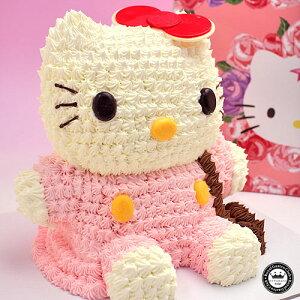 ハローキティ 立体ケーキ 約8〜10人分 3Dデコレーション Hello Kittyのキャラクターケーキ(キティ キティちゃん スイーツ 誕生日ケーキ ケーキ キャラクター お誕生日ケーキ 誕生日 かわいい