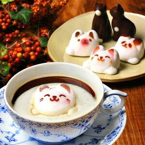 ホワイトデー お返し Latteラテ マシュマロ ラテマル & ねこ チョコレート 5個 家箱入り | スイーツ ギフト 詰め合わせ 子供 小学生 かわいい 誕生日 プレゼント かわいい 動物 猫 アニマル お