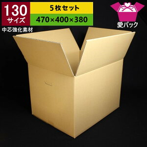 130サイズ強化ダンボール箱5枚セット段ボール箱/引越し用【あす楽対応】