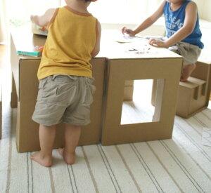 キッズデスク&チェアセット【送料無料日本製段ボールダンボール机椅子つくえいす家具エコ折りたたみ軽い軽量おもちゃ子どもこども子供用安全安心】