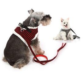 【メール便送料無料(ネコポス)】胸あて式首に優しい新構造の犬 ハーネスリードセット【小型犬・中型犬】【あす楽対応】