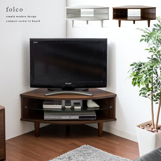 TV units corner snack make TV stand corner TV units tv Board Scandinavian simple AV storage storage furniture 26 inch folco stylish TV stand [folk] 80 cm dark brown 10P30Nov13