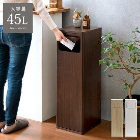 ゴミ箱 ごみ箱 ゴミバコ ごみばこ ダストボックス ダストBOX スイング式 ウッド 木目 45L 45リットル 北欧 大容量 キッチン リビング 寝室 大きい 角型 屋内 おしゃれ シンプル モダン スイング式ダストボックス Empro(エンプロー)
