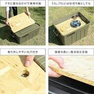 収納ボックスコンテナオシャレコンテナボックスフタ付きおしゃれふた付き蓋付きプラスチックboxコンテナ75Lアウトドアベランダ屋外屋内大容量ThorLargeTotesWithLid(ソーラージトートウィズリッド)75L