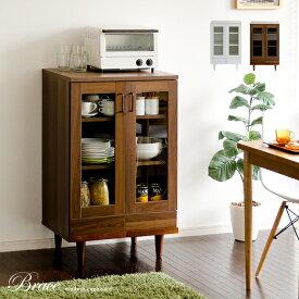 食器棚 幅60 北欧 カップボード キャビネット キッチン 収納 キッチンボード キッチンラック ラック 木製 モダン 食器 棚 リビング 家具 シンプル レトロ キッチンキャビネット おしゃれ かわいい Brace cupboard(ブレス カップボード) 60cm幅