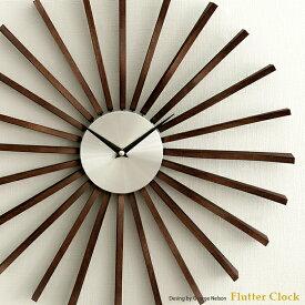 【最大800円OFFクーポン配布中】 掛け時計 壁掛け時計 時計 おしゃれ 掛時計 クロック ウォールクロック ジョージネルソン George Nelson 北欧 レトロ ミッドセンチュリー シンプル Flutter Clock 〔フラッタークロック〕