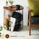 サイドテーブル ワイヤーバスケット カゴ テーブル 洗濯かご ランドリーバスケット ソファー ベッド 寝室 リビング 収…