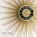 壁掛け時計 掛け時計 時計 北欧 ミッドセンチュリー レトロ クロック ウォールクロック モダン おしゃれ インテリア 存在感あるミッドセンチュリーデザイン♪ ...