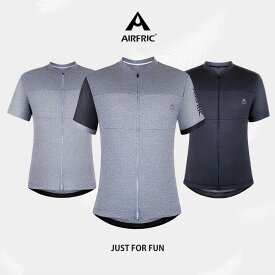 AIRFRIC 半袖 無地 冷感 メンズ サイクルジャージ ゴルフ テニス ストレッチ サイクルウェア フィットネス トレーニング 吸汗速乾 夏 自転車 20ct01