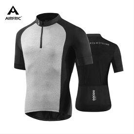 AIRFRIC(エアーフリック)サイクルジャージ サイクルウェア メンズ 半袖 夏 吸汗速乾 自転車 ロードバイク サイクリング 11621