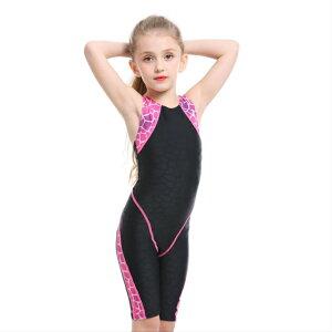 AIRFRIC 競泳水着 ジュニア女子 子供用 水着 スクール水着 キッズ 女の子 フィットネス 練習用 おしゃれ スイムウェア 9023