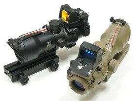 【RMR ドットサイト付】 Trijiconタイプ ACOG TA31 ECOS 4x32 ライフル スコープ 4倍率 | 電動ガン エアガン エアーガン スナイパーライフル アサルトライフル エイコッグ ダットサイト 狙撃 ライフルスコープ 照準器 トリジコン カスタム パーツ サバゲー サバイバルゲーム