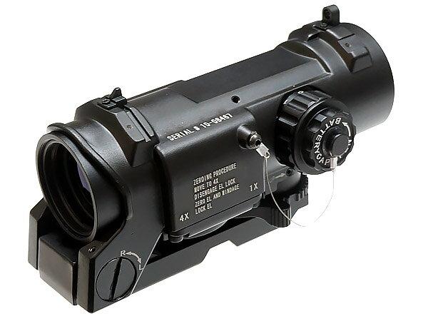 ELCAN SPECTER DR タイプ スコープ 1/4倍切替 発光レティクル搭載 / BK (ブラック)