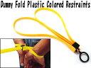 Fold Plastic Colored Restraints ダミー プルリング付属(簡易手錠レプリカ) イエローカラー