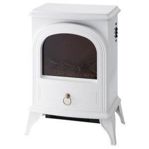 ノスタルジア 暖炉型ヒーター ホワイト CHT-1540WH 季節家電 暖房家電 インテリア アンティーク 暖炉型