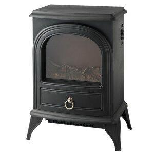 ノスタルジア 暖炉型ヒーター ブラック CHT-1540BK 季節家電 暖房家電 インテリア アンティーク 暖炉型
