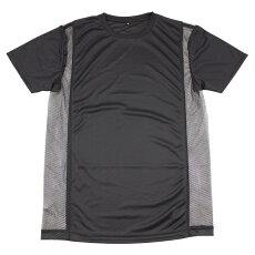 メンズ半袖シャツ丸首サイドメッシュ涼風魂白黒MLLLメンズ肌着半袖(インナーシャツDRY速乾メンズインナー夏涼しいクルーネック下着肌着メンズ下着男性下着tシャツティーシャツシャツドライインナーアンナーウェアメンズインナーシャツ)