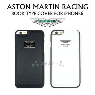 Aston Martin racing official licensed products iPhone6 (4.7 inch) dedicated leather rear case back cover [Genuine Leather back cover with metal logo] (iPhone6 / leather / case / cover / leather / back)