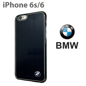 【SALE】BMW・公式ライセンス品 iPhone6s iPhone6 アイフォン6 ハードケース バックカバー【アイフォン6 iPhone6sケース アルミ 素材で艶があって かっこいい 男性におすすめ メンズ シンプル ビジネス】[Signature Collection] ブラック ビジネス ブランド【送料無料】