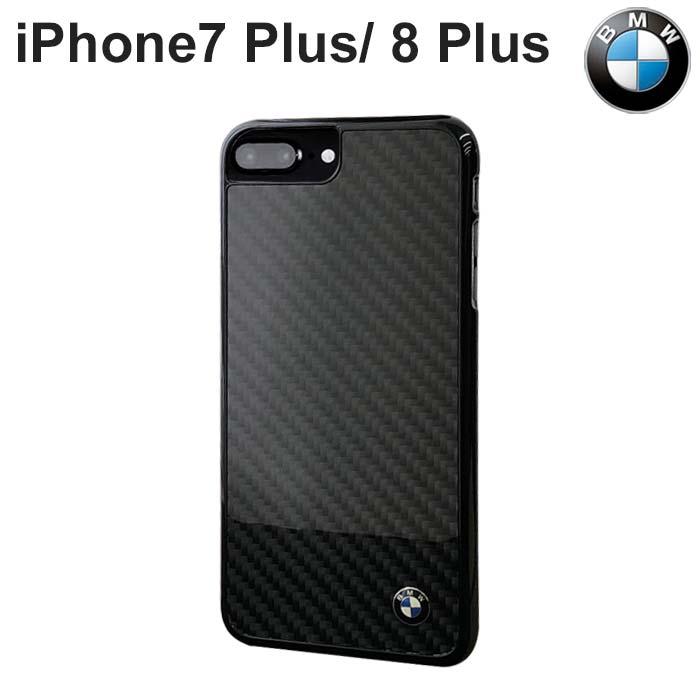 BMW・公式ライセンス品 iPhone8 Plus iPhone7 Plus ケース ハードケース 【 iPhone8 Plus iPhone7 Plusケース アイフォン7プラス バックカバー リアルカーボン iPhoneケース スマホケース アイフォン 7プラス かっこいい メンズ シンプル ビジネス】