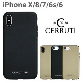 CERRUTI チェルッティ 公式ライセンス品 iPhoneXS iPhoneXiPhone8 iPhone7 iPhone6s iPhone6 本革 ハードケース ケース アイフォンX アイフォン8 アイフォン7 アイフォン6s バックカバー レザー シンプル ファッションブランド イタリア セルッティ 【送料無料】