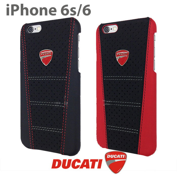DUCATI ドゥカティ 公式ライセンス品 iPhone6 iPhone6sケース ハードケース 本革 アイフォン6ケース バックカバー メンズ ブランド シンプル ブラック レッド アイフォン6sケース アイフォンケース アイフォンカバー アイフォン6ケース アイフォン6sケース【送料無料】