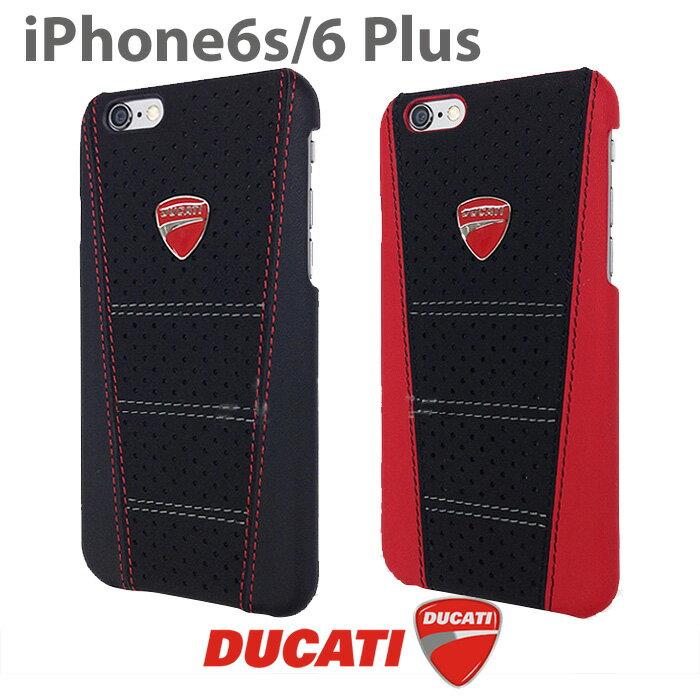 DUCATI・公式ライセンス品 iPhone6Plus 6sPlusケース ハードケース 本革 アイフォン6プラスケース ブラック レッド メンズ シンプル ブランド iPhone6sPlusケース 赤 と 黒 が 上品 で絶妙な アイフォン6プラスケース【送料無料】
