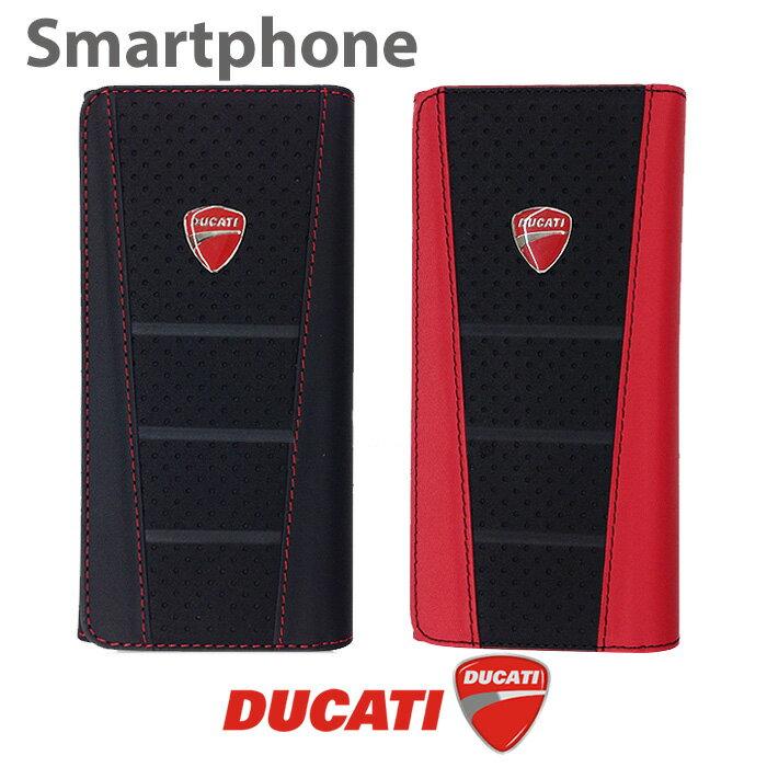 DUCATI 公式ライセンス品 iPhone7 6 6sケース 本革 ウォレット 汎用ケース カードホルダーとしても 財布型 アイフォン6 6s アイフォン7ケース ブランド ドゥカティ 見た目の 高級感 が違う! 持ってるだけで自慢出来る ケース スマホ スマホケース【送料無料】