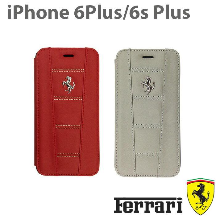 【SALE】フェラーリ・公式ライセンス品 iPhone 6 plus iPhone6sPlus ケース 手帳型 本革 アイフォン6sプラス アイフォン6プラスケース iPhoneケース メンズ 男性 ビジネス iPhone6sPlusケース ブランド ブックタイプ【送料無料】[458 Real Leather] FE458FLBKP6L/5.5inch
