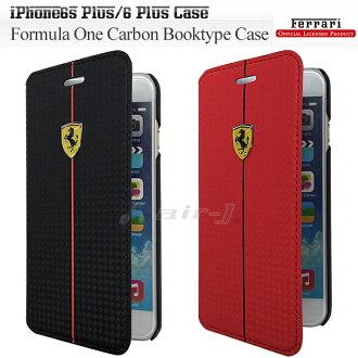 iphone6s plus/iPhone6 plus 케이스 수첩형 카본 케이스 북 타입 페라리・공식 라이센스품[Formula One Carbon Booktype Case for iphone6s plus/iPhone6 plus] FEFOCFLBKP6L 아이폰 6 s플러스 아이폰 6 플러스 5.5 inch