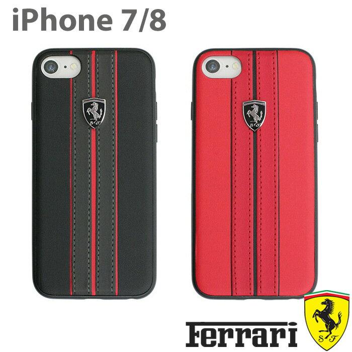 フェラーリ・公式ライセンス品 iPhone8 iPhone7 ハードケース アイフォン8 アイフォン7 カバー ブラック レッド メンズ 男性向け Ferrari 車 カーライセンス URBAN Collection【送料無料】