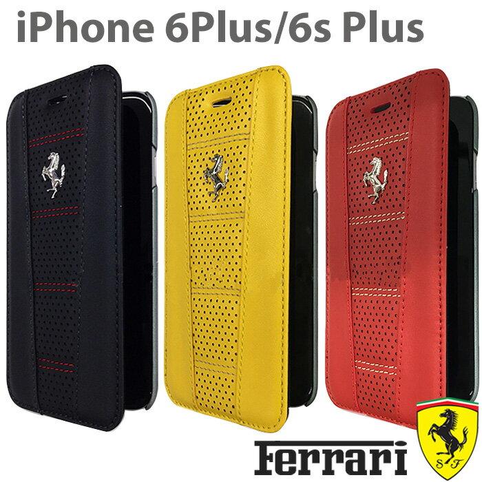 【SALE】フェラーリ・公式ライセンス品 iPhone 6 plus iPhone6sPlus ケース 手帳型 本革 アイフォン 6sプラス 6プラスケース iPhoneケース レザー メンズ 男性 ビジネス シンプル iPhone6sPlusケース ブランド 【送料無料】あす楽/5.5inch