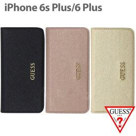 【SALE】GUESS・公式ライセンス品 iPhone6plus 6sPlusケース クラッチ 手帳型 【サフィアーノ×シンプルが上品な アイフォン6sプラスケース ブックタイプ クラッチ レディース ブランド PUレザー 可愛い スマホケース iPhone6Plusケース ゲス】送料無料
