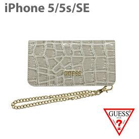 ac379c723f 【SALE】iPhoneSE iPhone5s iPhone5 ケースGUESS クラッチ クロコ調 アイフォン5 5s アイフォン SEケース  手帳型ケース 上品 シンプル レディース ブランド 女性 ...