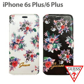 7cb71ce3db ... 花柄が大人可愛い アイフォン6sプラスケース ブックタイプ フラワー レディース ブランド シンプル 上品 可愛い スマホケース  iPhone6Plusケース ゲス】送料無料
