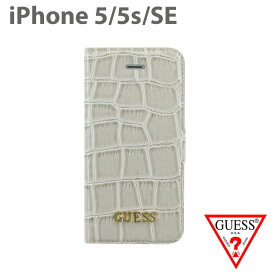672734151e 【SALE】GUESS 公式ライセンス品 iPhoneSE iPhone5s iPhone5 ケース 手帳型 ケース クロコ 調 アイフォン5 5s  アイフォン SEケース 上品 大人 かわいい シンプル ...
