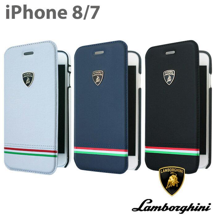 ランボルギーニ・公式ライセンス品 iPhone8 iPhone7 手帳型 ケース 本革 カード収納 ブック タイプ レザー アイフォン7 アイフォン8 メンズ かっこいい