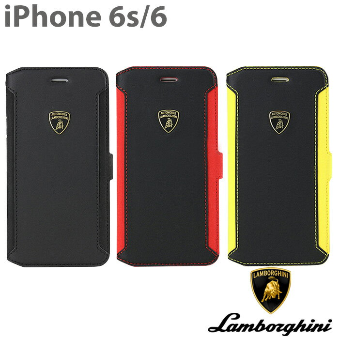 【SALE】ランボルギーニ・公式ライセンス品 iPhone6s iPhone6 ケース 手帳型 【 本革 が上品な アイフォン 6 iphone6sケース レザー ブックタイプ 大人 かっこいい メンズ シンプル ブランド iPhoneケース スマホケース ビジネス でも使える 】送料無料 LB-SSHFCIP6-HU-D5