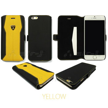 ランボルギーニ公式ライセンス品iPhone5/5s/SE専用手帳型本革ケース