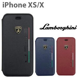 ランボルギーニ・公式ライセンス品 URUS iPhoneXS iPhoneX iPhoneケース 手帳型 ケース 本革 レザー ブックタイプ かっこいい メンズ ビジネス スマホケース イタリア トリコローレ ブランド ロゴ ブ