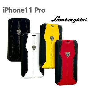 ランボルギーニ・公式ライセンス品 iPhone11Proケース 本革手帳型ケース アイフォンイレブンプロ iPhoneケース ブックタイプ 本革 レザー かっこいい メンズ シンプル ビジネス スマホケース ブ