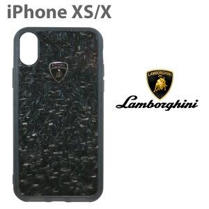 ランボルギーニ・公式ライセンス品 iPhoneXS iPhoneX ハードケース 【 アイフォンXS アイフォンX ケース スマホケース リアルカーボン バックカバー Lamborghini シンプル かっこいい メンズ カーブ