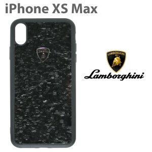 ランボルギーニ・公式ライセンス品 iPhone XS Max ハードケース 【 アイフォン XS Max ケース スマホケース リアルカーボン バックカバー Lamborghini シンプル かっこいい メンズ カーブランド ブラ