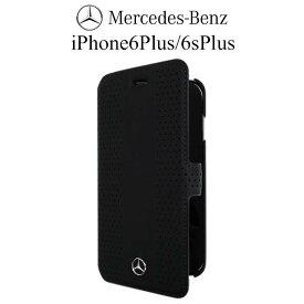 【SALE】メルセデス・ベンツ 公式ライセンス品 iPhone 6 plus iPhone6sPlus ケース 手帳型 【 本革 が上品な アイフォン 6sプラス 6プラスケース レザー ブックタイプ iPhoneケース スマホケース メンズ シンプル ブランド ロゴ ブラック 】Mercedes Benz 送料無料
