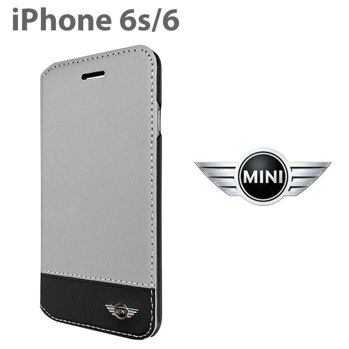 【SALE】MINI(ミニ)公式ライセンス品 iPhone6s iPhone6 ソフトレザー 手帳型 ケース ツートンカラー バイカラー MNFLBKP6BC アイフォン6s アイフォン6 カード収納 カードホルダー 手帳型ケース アイフォンケース【送料無料】【あす楽対応】