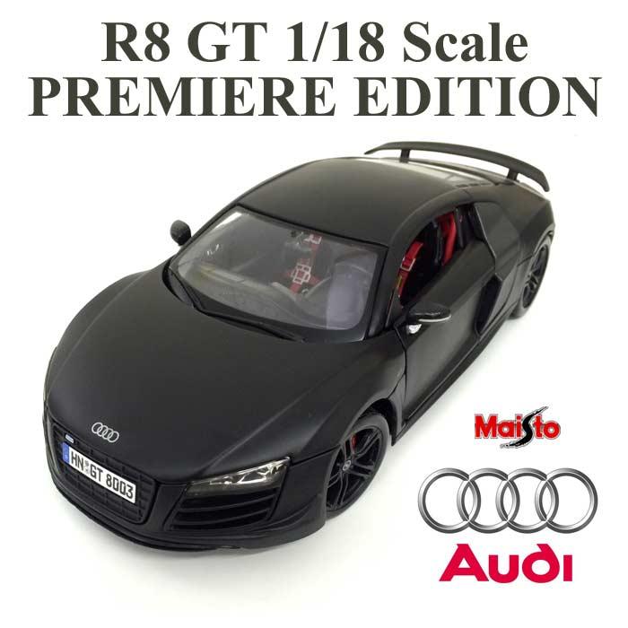 アウディ・正規ライセンス品 audi ミニカー 1/18 AUDI R8 GT マットブラック スーパーカー Maisto ミニカー