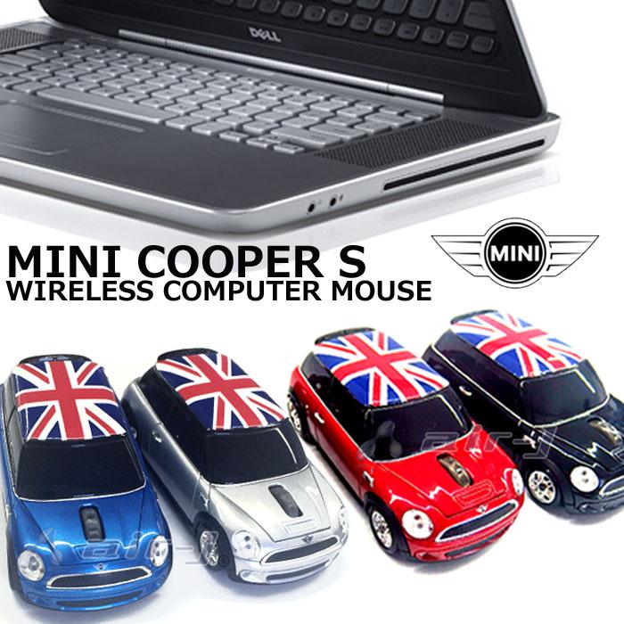 車型 マウス MINI 正規ライセンス品 MINI COOPER S ワイヤレス コンピューター マウス ミニ クーパー ラッピングOK ミニクーパー [ ライトも点滅してまるで本物みたい!? 仕事が楽しくなる♪ 仕事 プライベート ディスプレイ 男性も女性も◎ ]【送料無料】【あす楽対応】