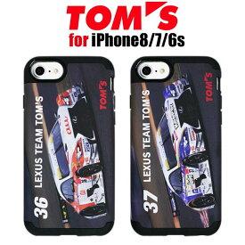 【SALE】TOM'S トムス 公式ライセンス品 iPhone7 iPhone6s iPhone6 専用 TPU+PC 衝撃吸収 ハードケース 36 au 37 keeper アイフォン7 アイフォン6s アイフォン6 ケース カバー 車 カーブランド カッコイイ 男性 ブラック iPhone アイフォン を守る 送料無料