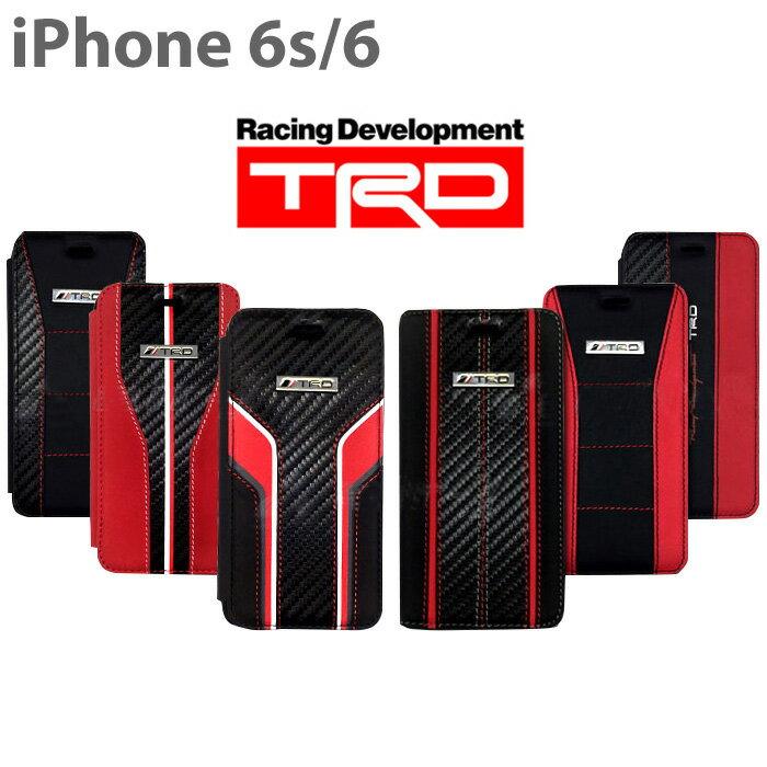 【SALE】TRD 公式ライセンス品 iPhone6s iPhone6 (4.7inch) 専用 手帳型ケース カード収納 カードケース 本革 カーボン調 カバー ブックタイプ ケース ハード TOYOTA トヨタ TOYOTA Racing Development メンズ 送料無料 あす楽対応